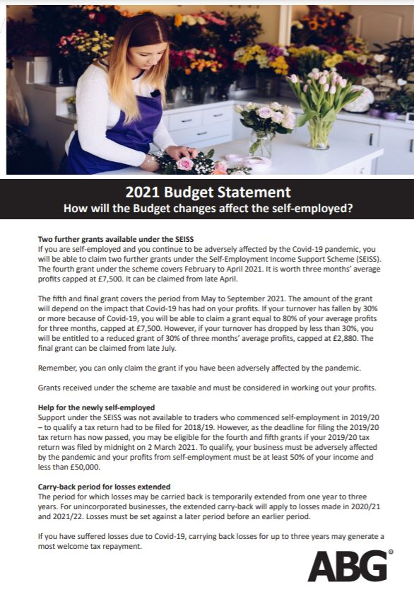How did the Budget impact on the self-employed.