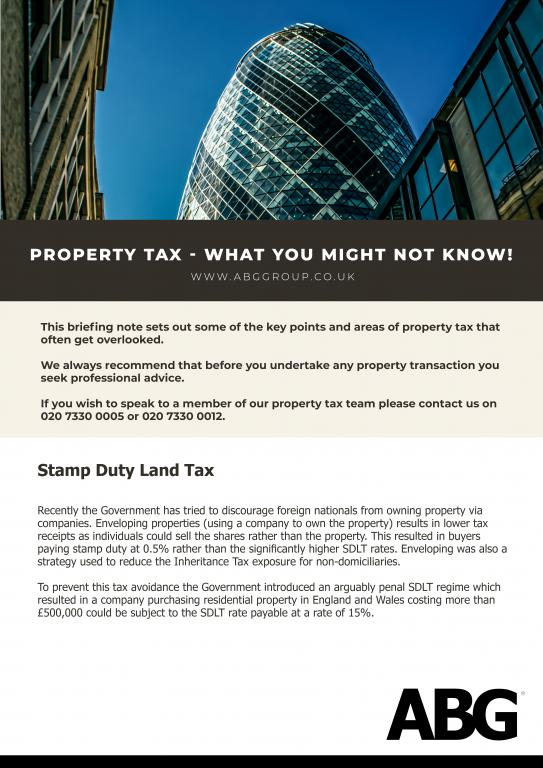 UK Property Tax changes to buy to let property