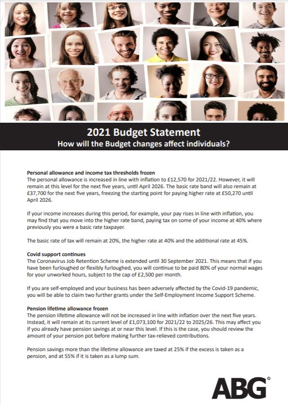 How did the Budget changes affect individuals.