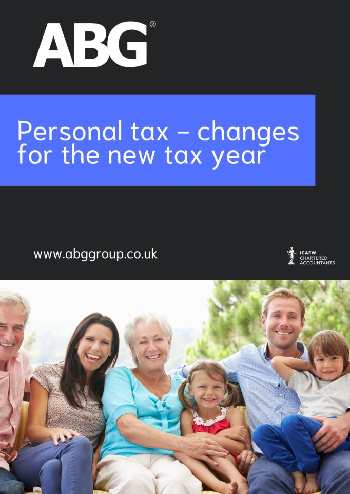 Personal tax - changes for the new tax year