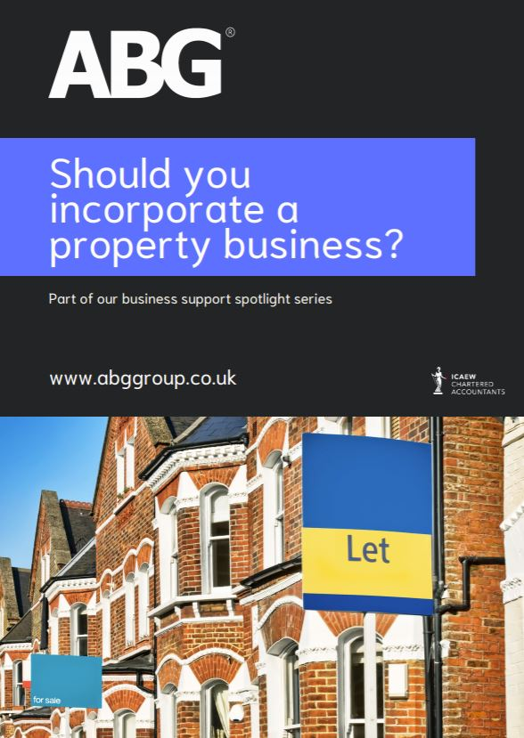 Should you incorporate a property business